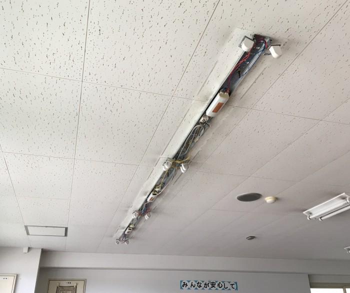 津市 電気工事 施設照明LED工事 | 津市で電気工事・LED工事・エアコン取り付けなら鴻鵠電気工業